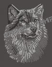 T-shirt  Loup en strass AN14