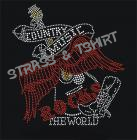 T-shirt country music the world en strass C12