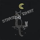 T-shirt chat et sourie en strass AN7