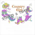 T-shirt  collier country girl en strass C21