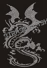 T-Shirt dragon en strass AN24