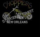 T-shirt  Moto choppers new orleans en strass M4