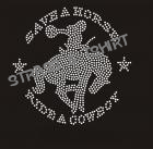 T-shirt save a horse strass C6