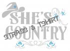 T-shirt  shescountry en strass et flocage C26